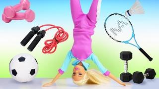Quel type de sport va choisir Barbie? Vidéo en français avec poupées pour filles.