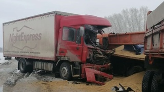 В Башкирии водитель иномарки погиб в столкновении с MAN и КамАЗ