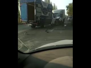 Авария двух ГАЗелей