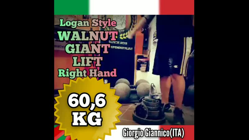 Giorgio Giannico ITA Walnut Giant LIFT LS 60 6 kg RH