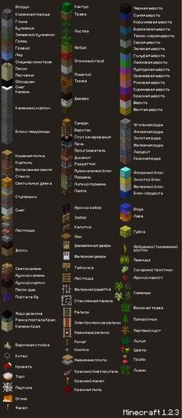 название всех предметов в майнкрафте #4