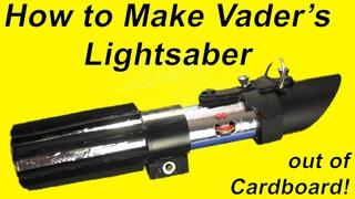 How to Make a Cardboard Lightsaber (VADER DIY!)