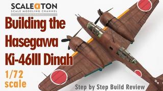 Building the Hasegawa Mitsubishi Ki 46 Type 100 Dinah 1/72 Scale Model Aircraft