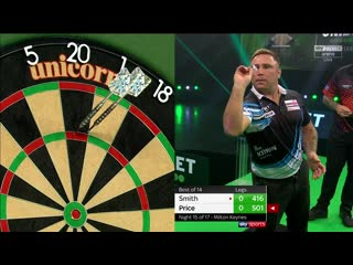 Michael Smith vs Gerwyn Price (PDC Premier League Darts 2020 / Week 15)