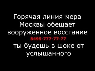 Горячая линия мера Москвы обещает вооруженное восстание народа/ чего нам не договаривают?