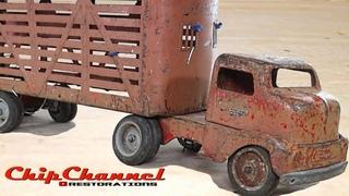 1953 Tonka COE Livestock Semi Truck Restoration