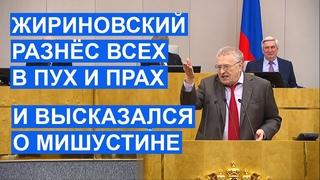 Жириновский разнёс депутатов, гуманитариев во власти и высказал мнение о Мишустине