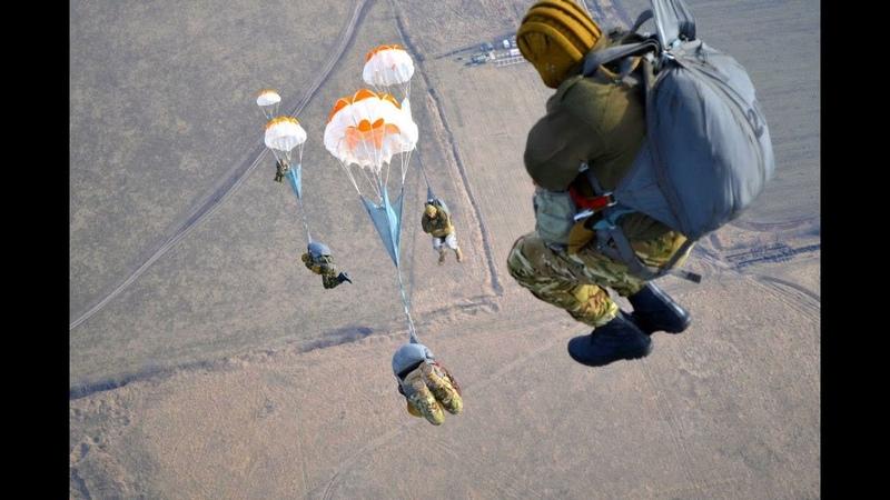 Нештатные моменты. Прыжки с парашюта десантников.