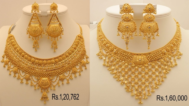 Latest Bridal Gold HaramNecklace designs With Price | Latest Light Weight Jewellery | T. F.