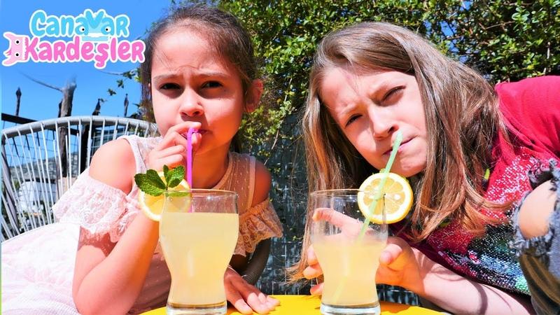 Eğlenceli video. Canavar Kardeşler bahçe temizleyip limonata yapıyorlar