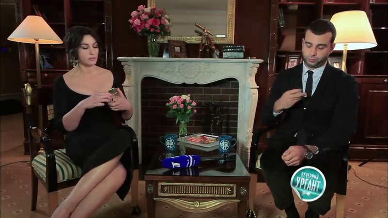 Вечерний Ургант Молчим с голливудскими звездами Моника Беллуччи Monica Bellucci online video cutte