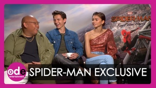 SPIDER-MAN: Tom Summers, Riley Archer and Jacob Batalon talk spidey-senses and upside down kissing