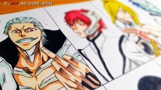 Drawing the Akatsuki as Espadas | Naruto Shippuden X Bleach