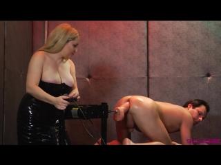 Aiden starr, lena starr & marcelo (slaves on fucking machine orgasm overload)[2018, femdon, fetish, dildo, anal, hd 720p]