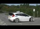 Test Elfyn Evans and Ford Fiesta WRC pre RallyRACC España 2014