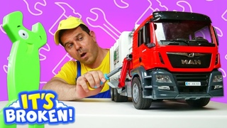 Garbage truck toy & Dump trucks for kids - Kids play construction vehicles & Learning for kids.