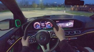 2020 Mercedes-Benz GLS 580 - POV Night Drive (Binaural Audio)