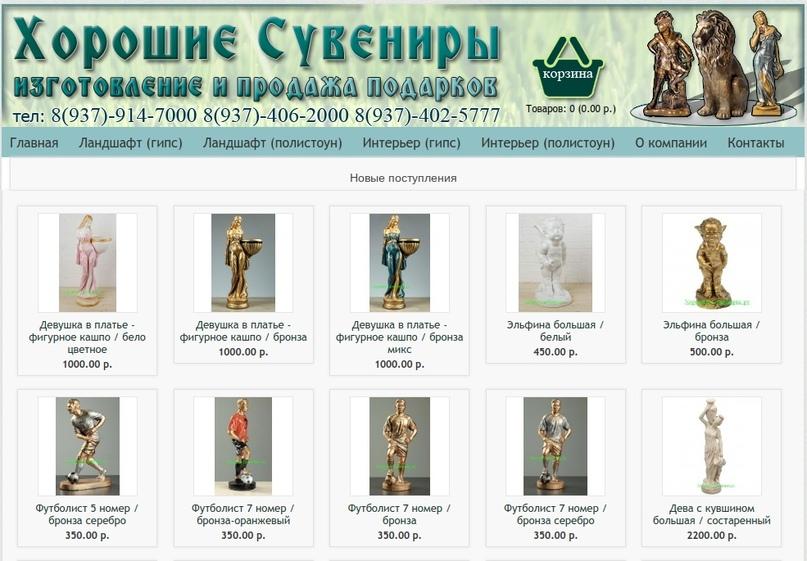Скульптуры ангелов в саду в Воронеже