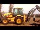 Корчёвка пней и целых деревьев экскаватором VOLVO BL 71