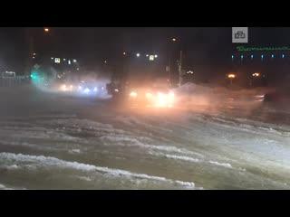 Главную улицу Комсомольска-на-Амуре залило кипятком в минус 23