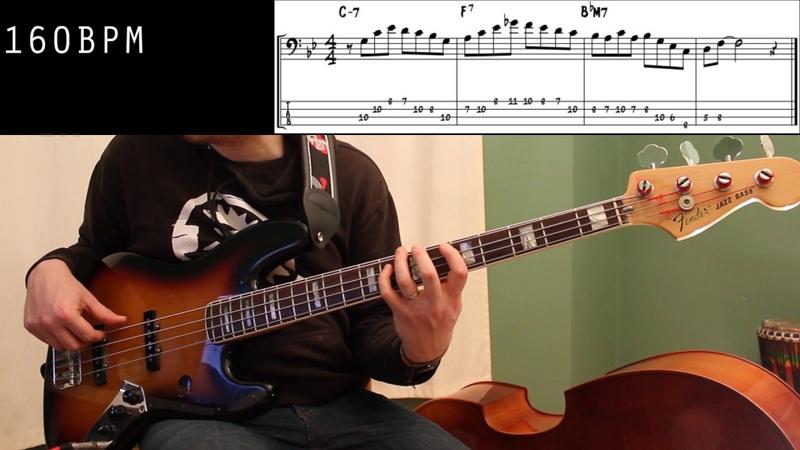 Jazz Bass Lesson 6 Charlie Parker ii V I lick