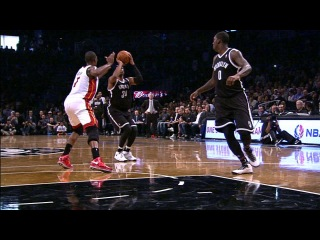 Andray Blatche Gets The Circus Shot To Fall