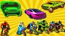Мультики про Цветные Машинки с Мультяшными персонажами для Детей Мультик Песенка для Малышей