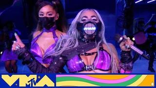 "Lady Gaga Performs a Medley of ""Chromatica II"", ""Rain On Me (ft. Ariana Grande), & More"