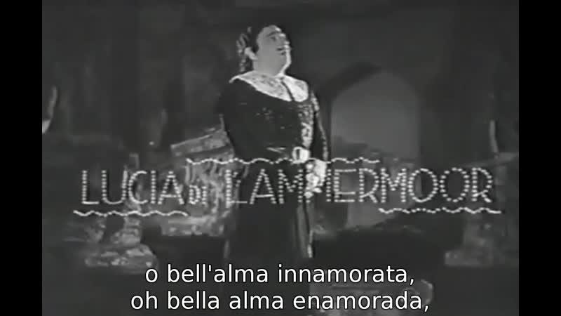 Tito Schipa Tu che a Dio spiegasti l'ali de Lucia di Lammermoor de Donizetti del film Vivere Brignone 1937