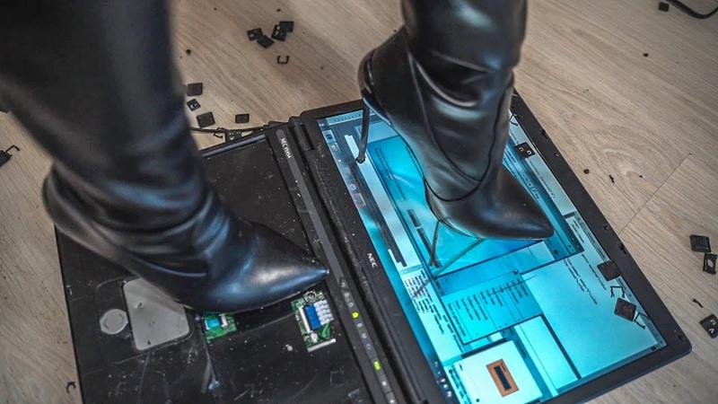 Tanya breaks the laptop    Trailer Crush Fetish