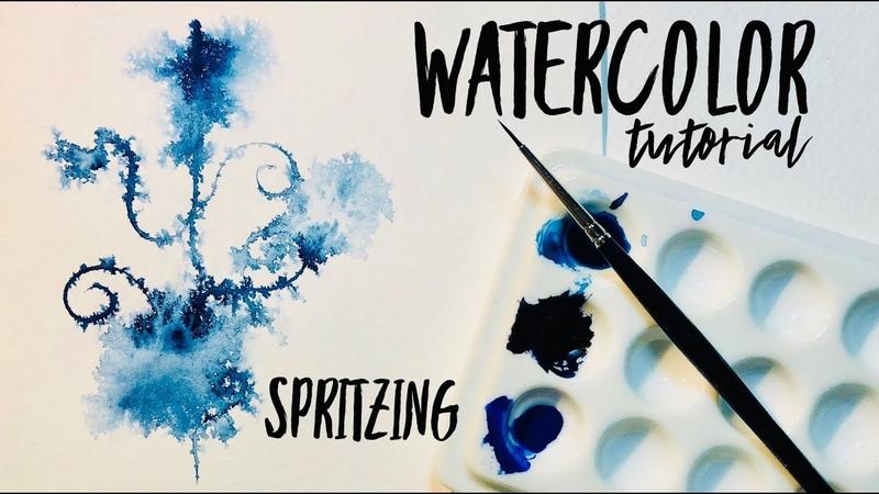 Watercolor Technique Spritzing ~ WATERCOLOUR by Scarlett Damen