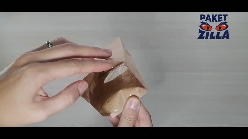 Бумажный крафт пакет 170 * 80 * 50 мм с окошком