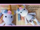 Amigurumi Unicornio 1ra parte Piernas Cuerpo y Brazos Tutorial a crochet Unicornio