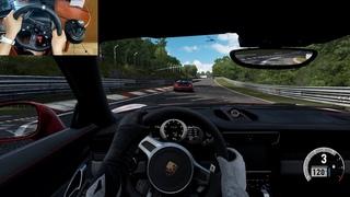 Porsche 911 Turbo S VS Dodge Viper ACR Nürburgring Logitech g920