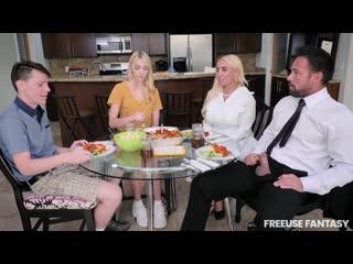 [FreeuseFantasy] Kylie Kingston, Kenna James - Step Family Dinner