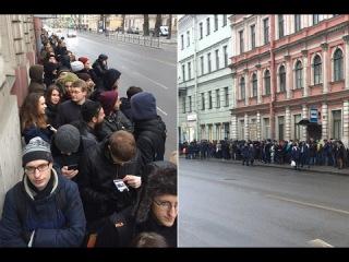 ОГО! Навальный собрал огромную очередь волонтеров, во время открытия предвыборн...