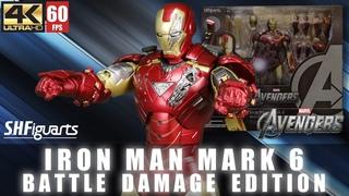 REVIEW :  Iron Man Mark 6 Battle Damage Edition SHF MK6   Marvel  Big 3   figure review