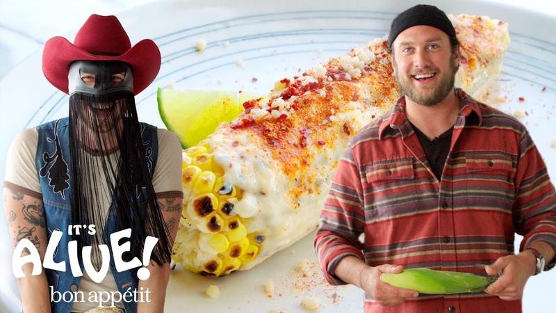 Brad and Orville Peck Make Elote   It's Alive   Bon Appétit