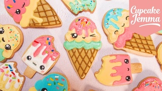 Cute Kawaii Ice Cream Cookies with Juliet Sear| Cupcake Jemma