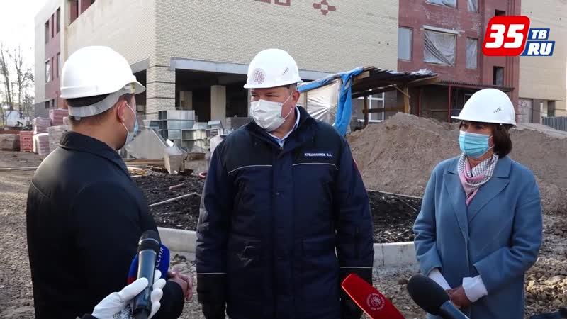 Строительство пристройки к школе №30 в Вологде выполнено больше чем наполовину