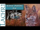Painting a Fox in Acrylics w/ Airbrushed background - Art tips w/ Lachri