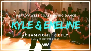West Coast Swing | Kyle Redd + Emeline Rochefeuille | Champions Strictly 3rd - Summer Hummer 2019