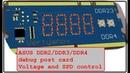 Пост карта в слот памяти DDR2 DDR3 DDR4 и дополнительные функции. DDR234 exta.