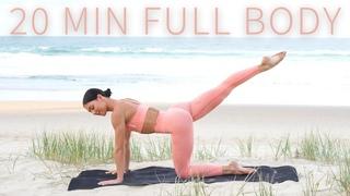 20 MIN FULL BODY WORKOUT    Intermediate Pilates (No Equipment)
