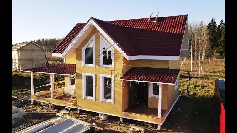 Строительство каркасного дома 7 на 12 м. по проекту 151-К в КП Перепелкино.