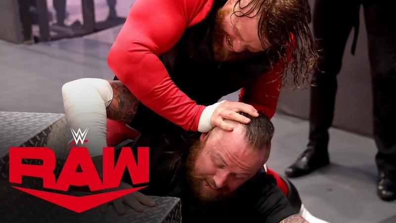 The «Kingslayer» Murphy attacks Aleister Black's eye Raw, July 27, 2020