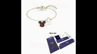 Мода 2020 swa новый мой браслет с подвеской в виде мыши очаровательная голова украшение золотой