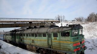 2ТЭ116-1519 на перегоне Берда-Бердянск-с поездом №116 Киев-Бердянск. и приветливая бригада.