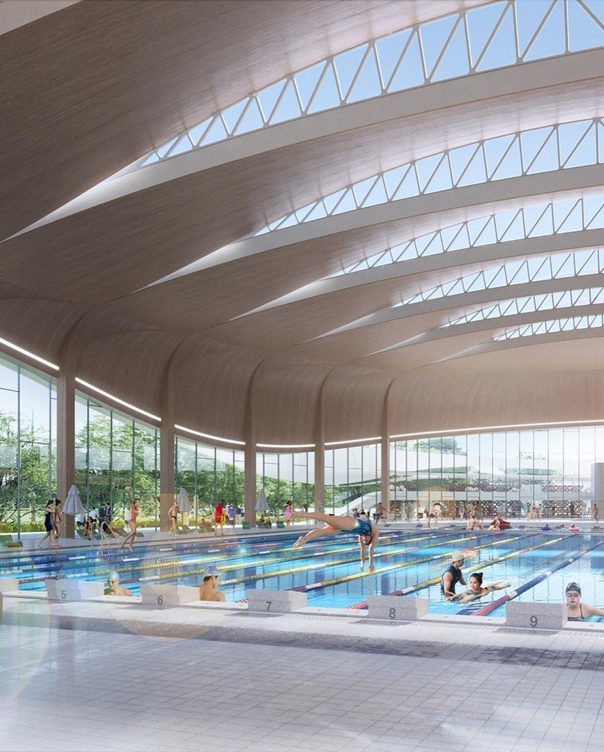 The Chungnam Sports Center proposal by ANU Design Group
