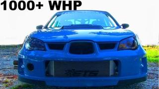 9-second 1000 horsepower Subaru Impreza WRX STI is a WILD BEAST ON THE STREETS